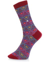 Burlington - Burlington Fashion Magenta Triangle Socks 20521 8370 - Lyst