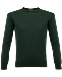 John Smedley - Luke Deep Green Pullover 049 - Lyst