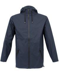 Rains - Breaker Blue Jacket 12300202 - Lyst