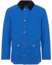 Barbour - Cobalt Washed Bedale Jacket - Lyst