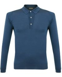 John Smedley - Tyburn Deep Teal Ls Polo Shirt 028 - Lyst