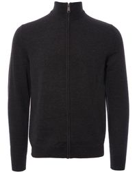 Fred Perry Authentic - Merino Wool Zip-through Cardigan - Lyst