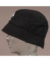 42a95b701d5 adidas Originals Trefoil Bucket Hat - Black in Black for Men - Lyst