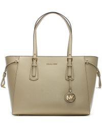 Michael Kors - Voyager Oat Saffiano Leather Tote Bag - Lyst