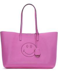 Anya Hindmarch - Ebury Bubblegum Circus Leather Smiley Shopper Bag - Lyst