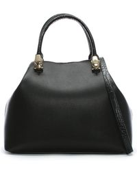 Class Roberto Cavalli - Corinne Black Leather Hobo Bag - Lyst