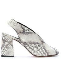 Daniel Footwear - Sakelle Beige Reptile Leather Sling Back Sandals - Lyst