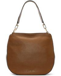 Michael Kors - Fulton Acorn Pebbled Leather Hobo Bag - Lyst