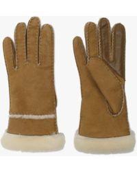 UGG - Women's Chestnut Sheepskin Seamed Tech Gloves - Lyst
