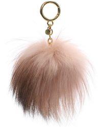 Michael Kors - Xxl Soft Pink Fur Pom Pom Keyring - Lyst