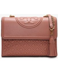 Tory Burch - Fleming Convertible Tramonto Leather Shoulder Bag - Lyst
