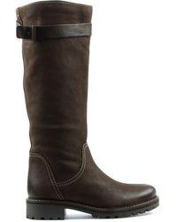 Daniel Footwear - Brown Leather Knee High Winter Boot - Lyst