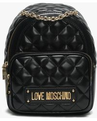 Love Moschino - Small Quilted Black Backpack - Lyst