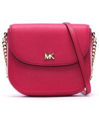 9eaf6ac7e5a7 Michael Kors - Mott Half Dome Ultra Pink Leather Cross-body Bag - Lyst
