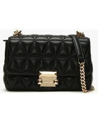 e32dd0898dc Michael Kors - Small Sloan Ii Black Quilted Leather Cross-body Bag - Lyst