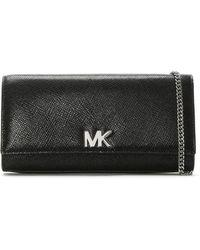 Michael Kors - Mott Black Leather Clutch Bag - Lyst
