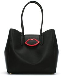 Lulu Guinness - Large Cupids Bow Black Tote Bag - Lyst