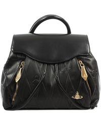 Vivienne Westwood - Diamond Orb Black Leather Backpack - Lyst