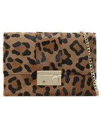 Daniel - Ahand Leopard Calf Hair Push Lock Shoulder Bag - Lyst