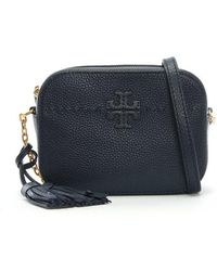 Tory Burch - Mcgraw Royal Navy Leather Camera Bag - Lyst