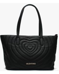 762e1067f42a Valentino By Mario Valentino - Fiona Black Quilted Heart Tote Bag - Lyst
