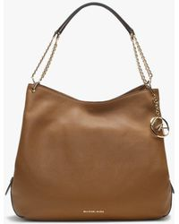 96c9cae238249 Michael Kors - Large Lillie Acorn Pebbled Leather Shoulder Tote Bag - Lyst