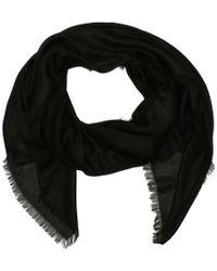 Emporio Armani - Jacquard Black Logo Scarf - Lyst