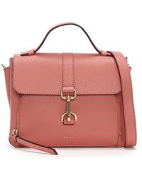 DKNY - Paris Pebbled Coral Leather Cross-body Bag - Lyst