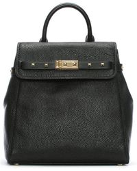 Michael Kors - Addison Black Pebbled Leather Backpack - Lyst