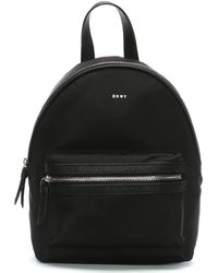 DKNY - Medium Black Nylon Backpack - Lyst