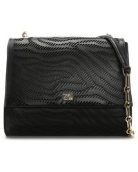 Class Roberto Cavalli - Audrey Small Black Leather Shoulder Bag - Lyst