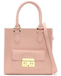 Daniel - Muddler Small Pink Leather Structured Tote Bag - Lyst