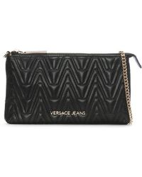 Versace Jeans - Steph Black Quilted Mini Cross-body Bag - Lyst
