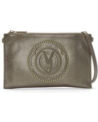 Versace Jeans - Charm Pewter Embellished Cross-body Bag - Lyst