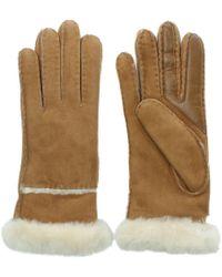 Ugg | Women'S Exposed Slim Tech Chestnut Gloves | Lyst