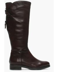 Daniel Footwear - Brown Leather Buckle Riding Boots - Lyst