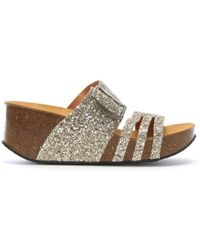 69929b9fcfb Faith Liddy Pink Glitter Espadrille Wedges in Pink - Lyst
