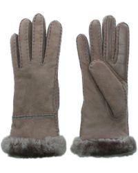 UGG - Women'S Exposed Slim Tech Stormy Grey Gloves - Lyst