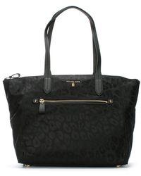Michael Kors - Kelsey Black Nylon Leopard Print Tote Bag - Lyst