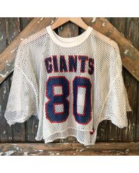 DANNIJO - Vintage Giants White Crop Jersey - Lyst