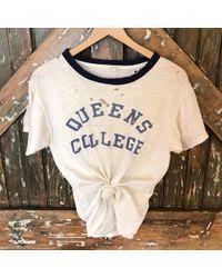 DANNIJO - Vintage Queens College Tee - Lyst