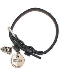 Alexander McQueen - Leather Bracelet With Studs - Lyst