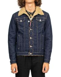 ca15a23c846573 Dsquared²  patch  Denim Jacket in Blue for Men - Lyst