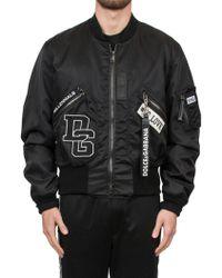 Dolce & Gabbana - Double Face Bomber Jacket - Lyst