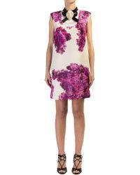Daniele Carlotta - Flower Print Gazar Silk Dress - Lyst