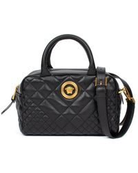 Versace - Quilted Satchel Bag - Lyst