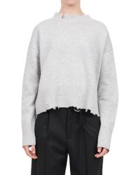 Helmut Lang | Wool And Cashmere Blend Sweater | Lyst