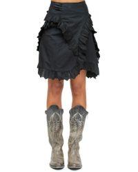 Étoile Isabel Marant - Milou Ruffled Broderie Anglaise Cotton Mini Skirt - Lyst