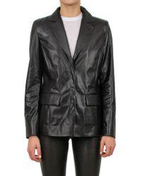 d5a2a5a1 Balmain Soft Metallic Nappa Leather Jacket in Metallic - Lyst