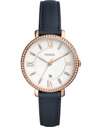 Fossil - Jacqueline Blue Watch - Lyst